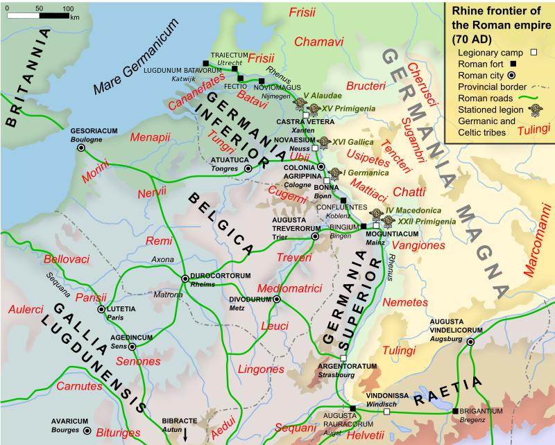 Alle forten op het grondgebied van het tegenwoordige Nederland waren in de zomer van 69 verwoest. Daarna waren meer oostelijke legerplaatsen als Vetera aan de beurt.