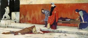 De zelfmoord van Nero (1888), door Vasiliy Smirnov