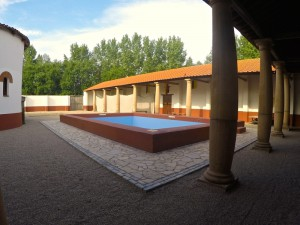 De palaestra in Archeon bevat o.a. een natatio, toegang tot het hypocaustum van de sauna en de latrina.
