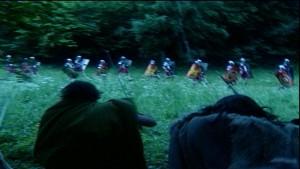 De Romeinen die dachten vrij aftocht uit Vetera te krijgen liepen lelijk in de val. Was het boze opzet van Civilis of had hij zijn mannen niet in de hand? (Foto: schooltv.nl)