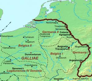 Het noorden van Gallië na de provinciale herindeling.