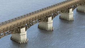 De beroemde Romeinse bruggen kunnen de waterwegen met de landwegen kruisen. Bewoners van zo'n plek konden er flink aan verdienen!
