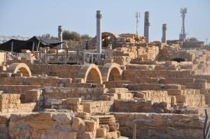 De ruïnes van Caesarea Maritima, van waaruit Pilatus Judaea bestuurde.