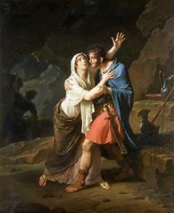 Het verhaal van Julius Sabinus en zijn vrouw Epponina (hier geschilderd door Nicola-André Monsiau in 1802) sprak zodanig tot de verbeelding dat de naam Éponine in modern Frankrijk voor vrouwelijke deugd en patriottisme staat. Er zijn zelfs toneelstukken en opera's over geschreven.
