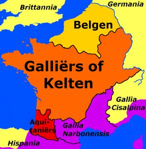Dat de Helvetiërs van Zwitserland naar de westkust trokken bracht oorlog met zich mee. Een goede aanleiding voor Caesar om zich erin te mengen en Gallië te bezetten.