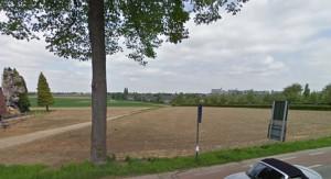 De grens vlakbij Maastricht.