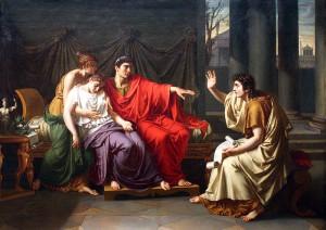 Vergilius leest de Aeneis voor aan Augustus, Octavia en Livia (1790-1793), door Jean-Baptiste Wicar. Zoals de schilder het hier voorstelt is het epos zo indrukwekkend dat het dames doet flauwvallen.