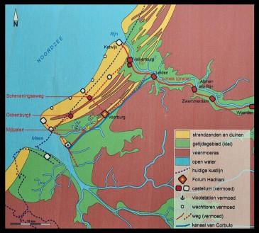 De verdediging van de kust in de Romeinse tijd. Niet elk fort is even zeker.