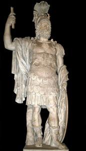 Romulus en Remus zouden zijn verwekt door de god Mars. (Beeld uit de 1e eeuw, gevonden bij het Forum van Nerva.)