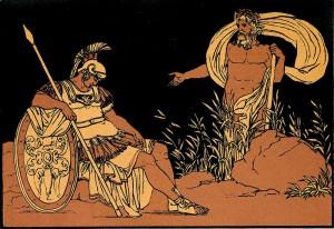 De Tiber adviseert Aeneas om vriendschap te zoeken bij Euander.