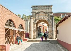 De Romeinse straat in Museumpark Orientalis.