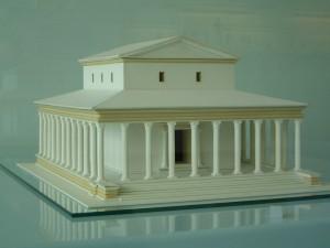 De tempel op de plek van de Grote Kerk van Elst.