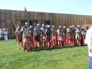Romeinse soldaten uit de 1e eeuw (uitgebeeld door Gemina Project en Pax Romana). Met schubben, maliën en lamellen!