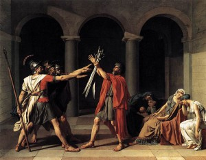 De eed der Horatii, door Jacques-Louis David.