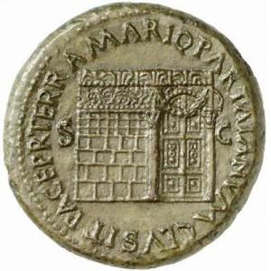 De Januspoort, afgebeeld op een sestertius uit de tijd van keizer Nero.