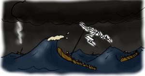 Storm en zandbanken maakten een tocht langs de noordkust in de herfst een riskante onderneming!