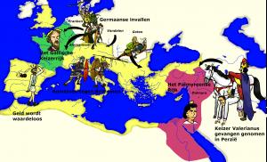 De Crisis van de Derde Eeuw bracht niet alleen een hoop burgeroorlog. De Germaanse invallers werden lastiger en gevaarlijker dan ooit.