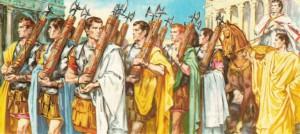 De twee consuls kwamen tijdens de Republiek het dichtst bij een staatshoofd. In de Oudheid kwamen wel meer staten voor met twee mannen aan het hoofd.
