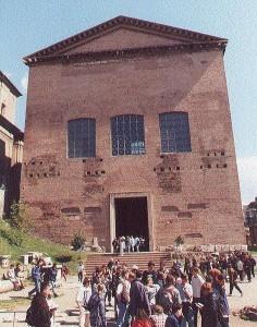 De Curia Julia, één van de gebouwen die in de loop der eeuwen door de Romeinse Senaat is gebruikt.