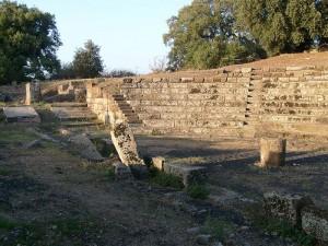 De ruïnes van Tusculum. De stad is in de loop der eeuwen onbewoond geraakt.
