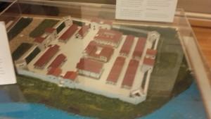 Maquette van hoe Laurium er uitgezien kan hebben, in het Stadsmuseum Woerden. Hoe de gebouwen er werkelijk uitzagen en welk gebouw welke functie had is (nog) niet bekend.