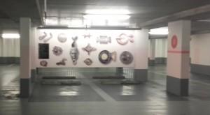 Het mini-museum in Parkeergarage Castellum.