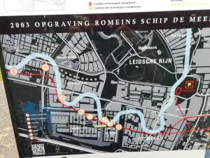 De Oude Rijn was in de Romeinse tijd in Vleuten-De Meern allesbehalve recht.