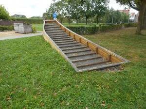 """""""Romeins schip"""" in het Balijepark, waar De Meern 4 gevonden is. (Aan de Augustusweg.)"""