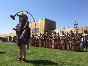 Romeinse soldaten in Castellum Hoge Woerd! (Hier uitgebeeld door Gemina Project en Vereniging Pax Romana.)