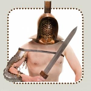 De onbekende murmillo was de laatste van de 9 figuren én de enige gladiator die niet in de show zat.