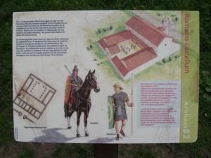 Informatie over Castellum Arnhem, ter plekke te vinden.