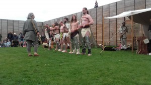 De gladiatoren worden keihard getraind door een zogeheten doctor.