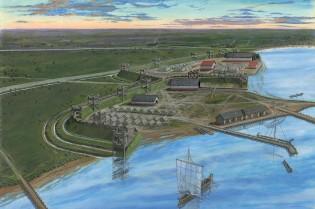Het castellum bij Velsen is één van de weinige bekende forten ten noorden van de Rijn in Nederland.