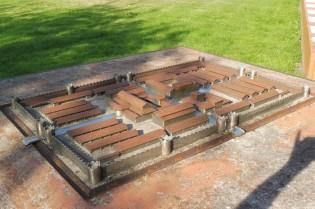 Maquette van het castellum van Aardenburg.