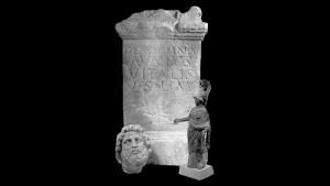 Een altaar gewijd aan de inheemse godin Exomna werd niet ver van Rossum gevonden (Bron: Rijksmuseum van Oudheden)