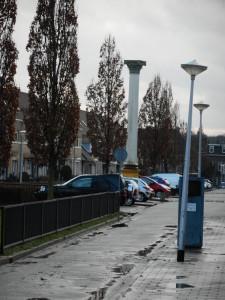 De Forumzuil in de Eikstraat van Nijmegen herdenkt de locatie van de markthal.