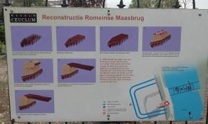 De bouw van de brug bij Cuijk, gereconstrueerd en uitgelegd bij Museum Ceuclum