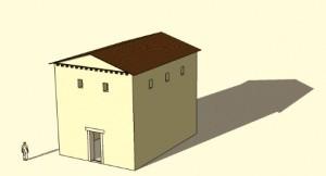 De eerste tempel van Elst was waarschijnlijk van vrij eenvoudig ontwerp, hoewel het een flink gebouw was.