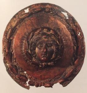 Een bronzen Medusa gevonden in een beek bij Hout-Blerick.
